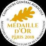 Médaille D'Or Paris 2018 Concours général Agricole
